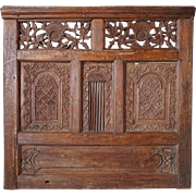 Indonesian Carved Teak Architectural Screen Divider