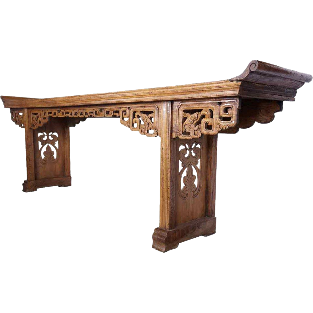 Long Chinese Elm Altar Table