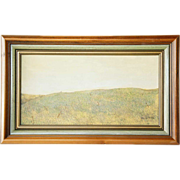 WALTER HATKE Egg Tempura Painting, A Meadow