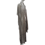 1920s Art Deco Egyptian Assuit Shawl Very Large & Long Heaviest Coverage Of Silver Pieces