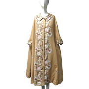 Vtg 1960s Beverly Hill Profils de Monde Couture Wool Silk Tambour Embroidery Cape Classy!!