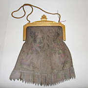 Vintage 1920's Whiting & Davis Co. Mesh Bag - Romantic Art Deco
