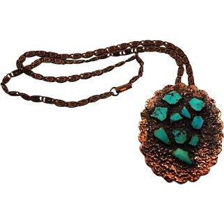 Bell Trading Post Copper & Turquoise Southwestern Necklace