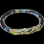 Chinese Cloisonne Dragon Bracelet - Vintage Black