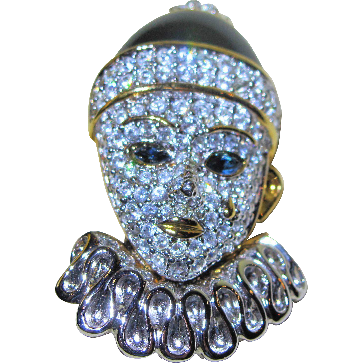 Brooch Beads: Enamel Rhinestone Clown Pin Brooch