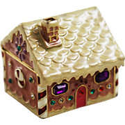 Monet Gingerbread House Trinket Box Holiday