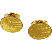 Victorian Chased Cuff Links Rolled Gold