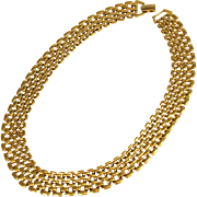 Napier Gold Plated Panther Necklace Chain