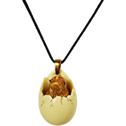 Luke Razza Hatching Chick Necklace Vintage