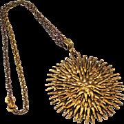 Hollycraft Starburst Pendant Necklace Vintage