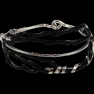Black Coral Branch Bracelet Vintage