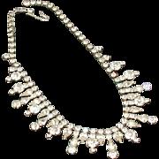 Kramer Rhinestone Collar Necklace Signed Vintage 1940's