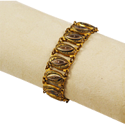 Damascene Gold Filled Link Bracelet Spanish
