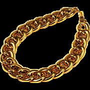 Napier Gold Large Link Necklace Vintage
