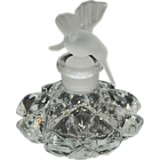 Hummingbird Frosted Glass Perfume Bottle - Figural