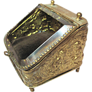 Antique Ormolu Watch Case Holder - Zeus & Cherubs Beveled Glass