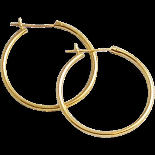 14kt yellow gold hoop earrings sold on ruby