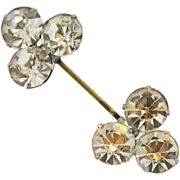Art Deco Rhinestone  Lapel, Jabot or Hat Pin