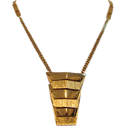 Vintage Vendome - Pendant Gold Tone Necklace - Signed