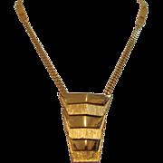 Vintage Vendome - Pendant Gold Tone Necklace - Signed
