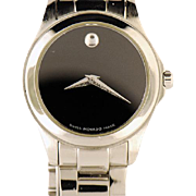 Lady's Movado Stainless Steel Quartz Wristwatch