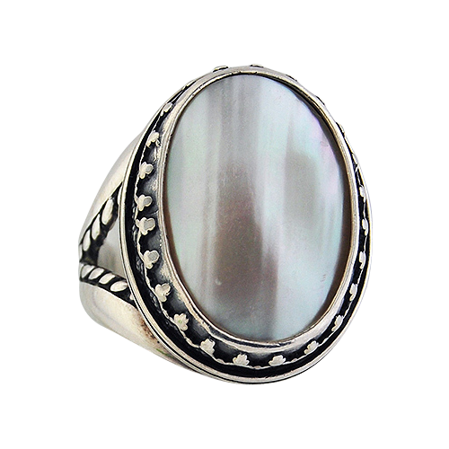 Sterling Silver & Mother of Pearl Ring