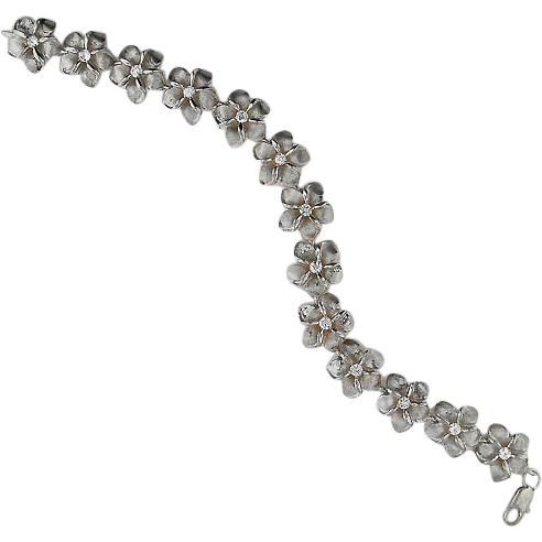 Sterling Bracelet of Flowers