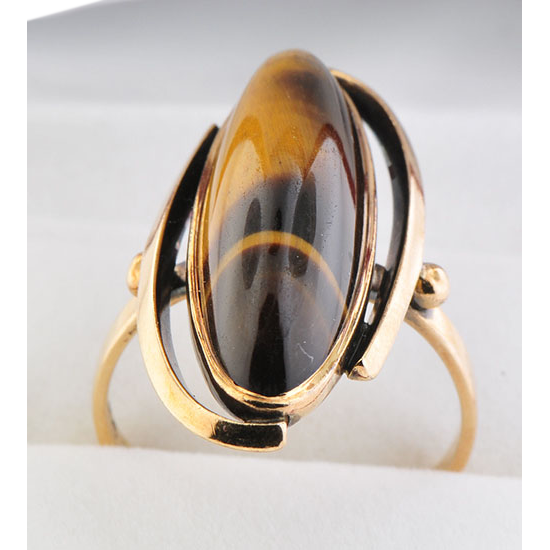 9ct yellow gold tiger s eye ring sold on ruby