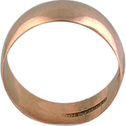 Antique 14K Yellow Gold Filled Wedding Band
