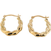 Pair of 10K Yellow Gold Loop Earrings