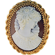 14K Yellow Gold Shell Cameo