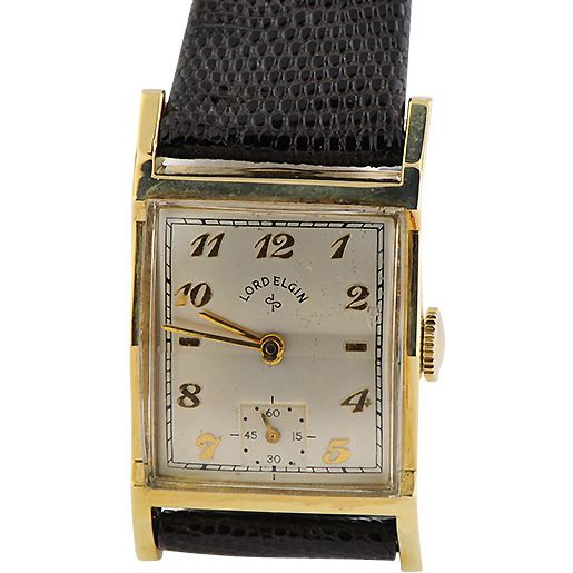 14K Yellow Gold Filled Lord Elgin Wristwatch