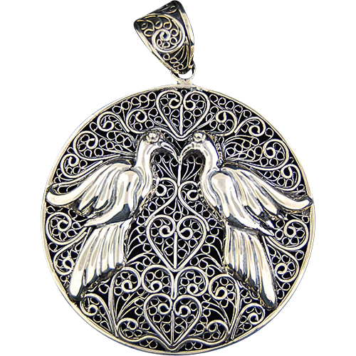 Sterling Indonesian Pendant