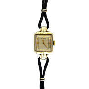 Lady's 14K Yellow Gold Hamilton Watch