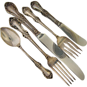 International Sterling Wild Rose Five Piece Place Setting