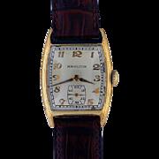 "Hamilton 14K Gold Filled Wristwatch .. ""Webster"""