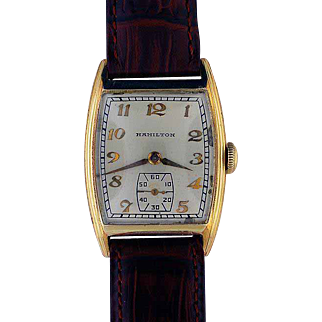 "Hamilton 14K Gold Filled Wristwatch .. ""Webster"""
