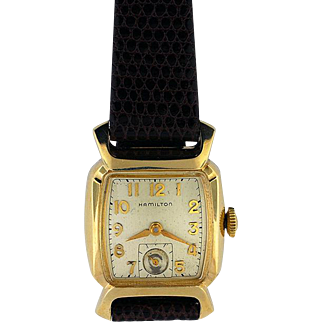 "Hamilton 17 Jewel, Gold Filled Wristwatch in ""Cyril"" Model"