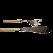 1940's Fish Knife & Fork .. EPNS