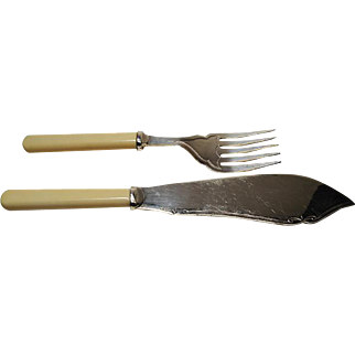 1940's Fish Knife & Fork .. EPNS