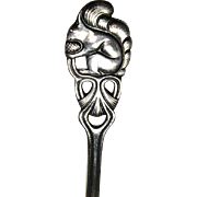 Silver Squirrel Topped Serving Spoon