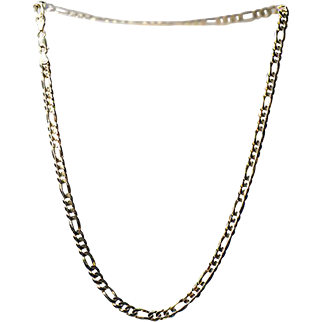 "10K Yellow Gold Chain .. 22"" Long .. 6mm Wide"