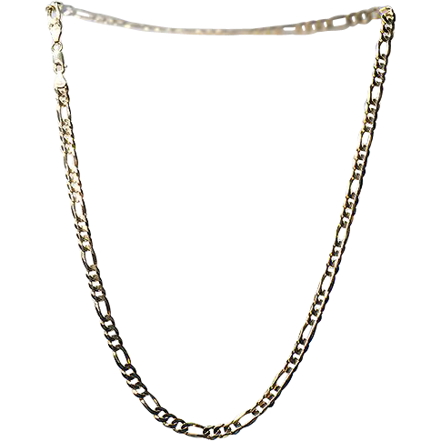 """10K Yellow Gold Chain .. 22"""" Long .. 6mm Wide"""