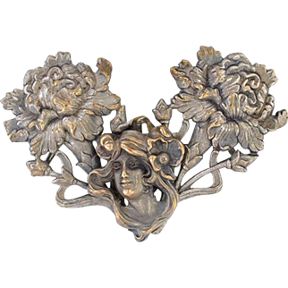 Silver Plated Art Nouveau Buckle