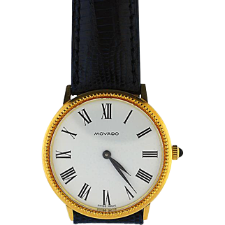 18K Solid Gold Movado Wristwatch