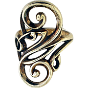Sterling Curly Motif Electra Ring by James Avery