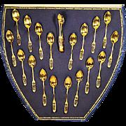 German Set of Vermeil Demitasse Spoons