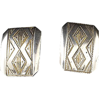 Danish Silver Cuff Links ... 835