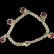 Sterling Lady Bug Bracelet