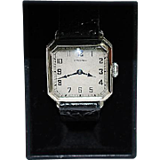 Vintage 14K White Gold Filled Hamilton Wristwatch